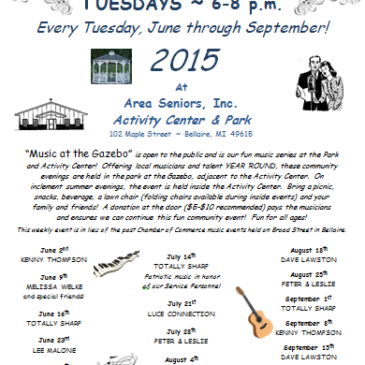 Music At The Gazebo Summer 2015 Schedule